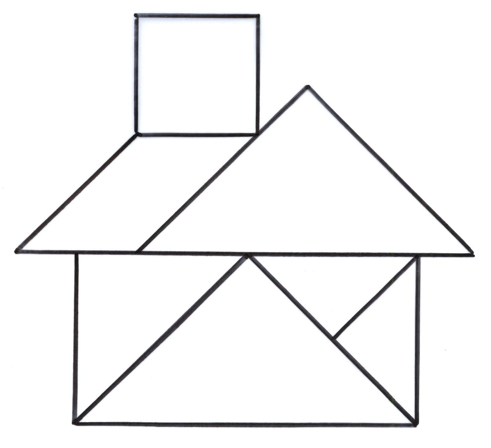 tangram coloring pages - photo#15
