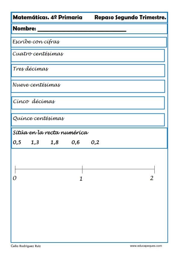 ejercicios matemáticas cuarto primaria 13