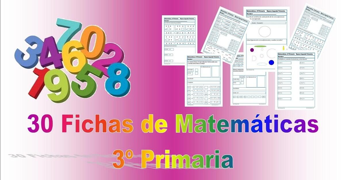 30 fichas de matemáticas para primaria