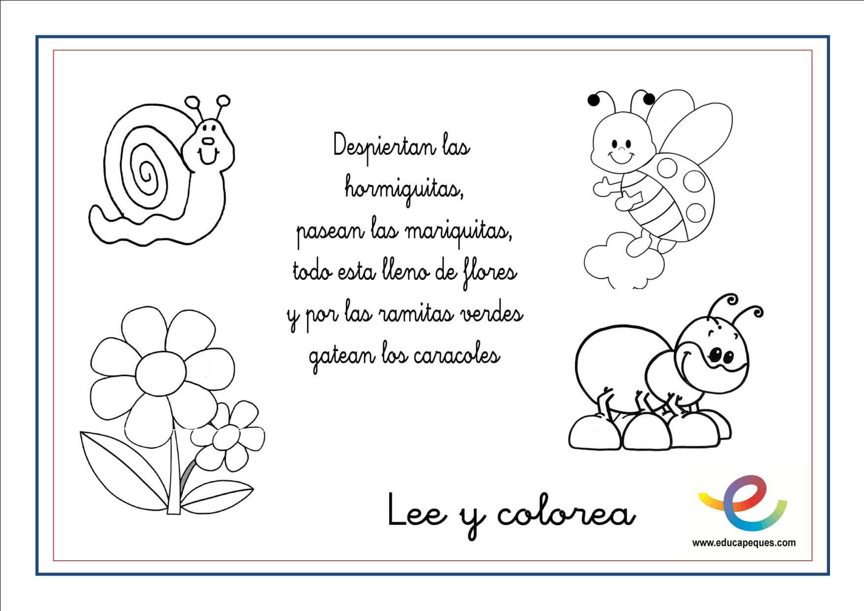 Lee Y Colorea Primavera 03