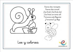 Poemas de primavera para nios y nias Lee y colorea