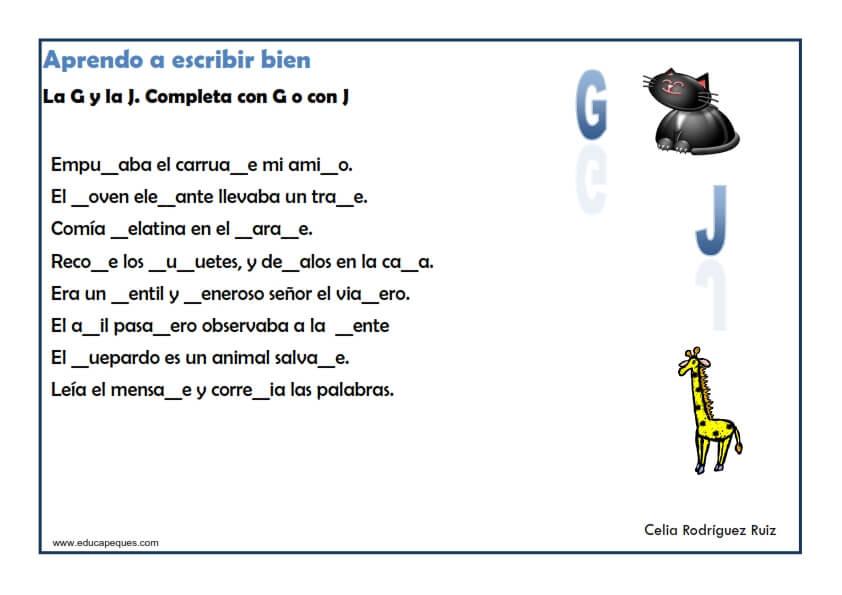 Dictados Para Niños De Cuarto De Primaria   Ejercicios Ortografia Para Ninos Y Ninas De Primaria