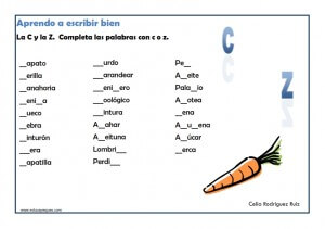 actividades de ortografia para imprimir