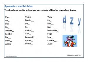 ejercicios ortografia