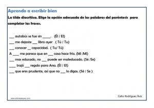 taller de ortografia para imprimir