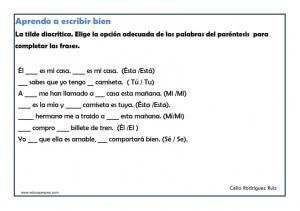 Ejercicios De Ortografía Para Niños Primaria Educapeques