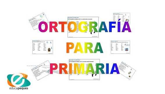 Ejercicios Ortografía para niños y niñas de primaria