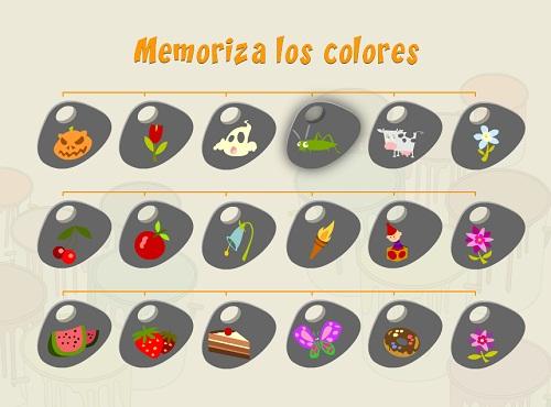 Juegos de memoria colores nivel 2