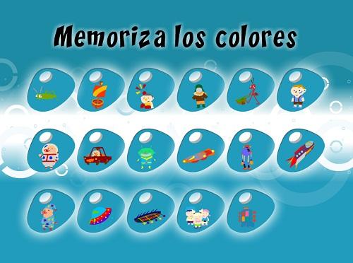 Juegos de memoria colores nivel 3