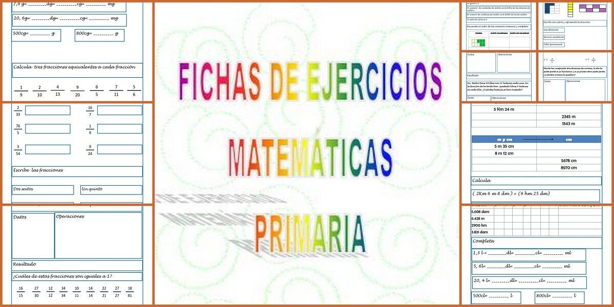 Matemáticas primaria. Ejercicios para repasar