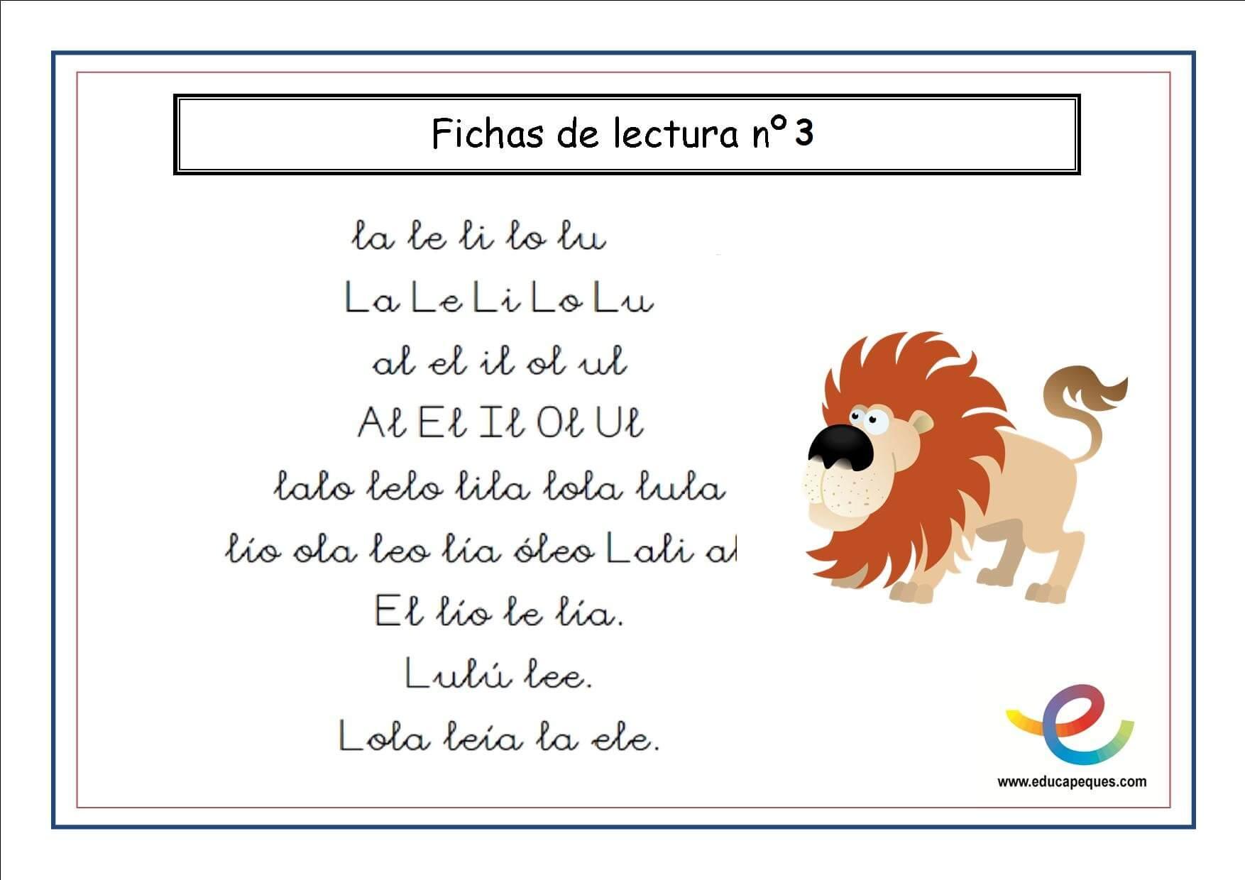 Cartilla De Lectura Infantil