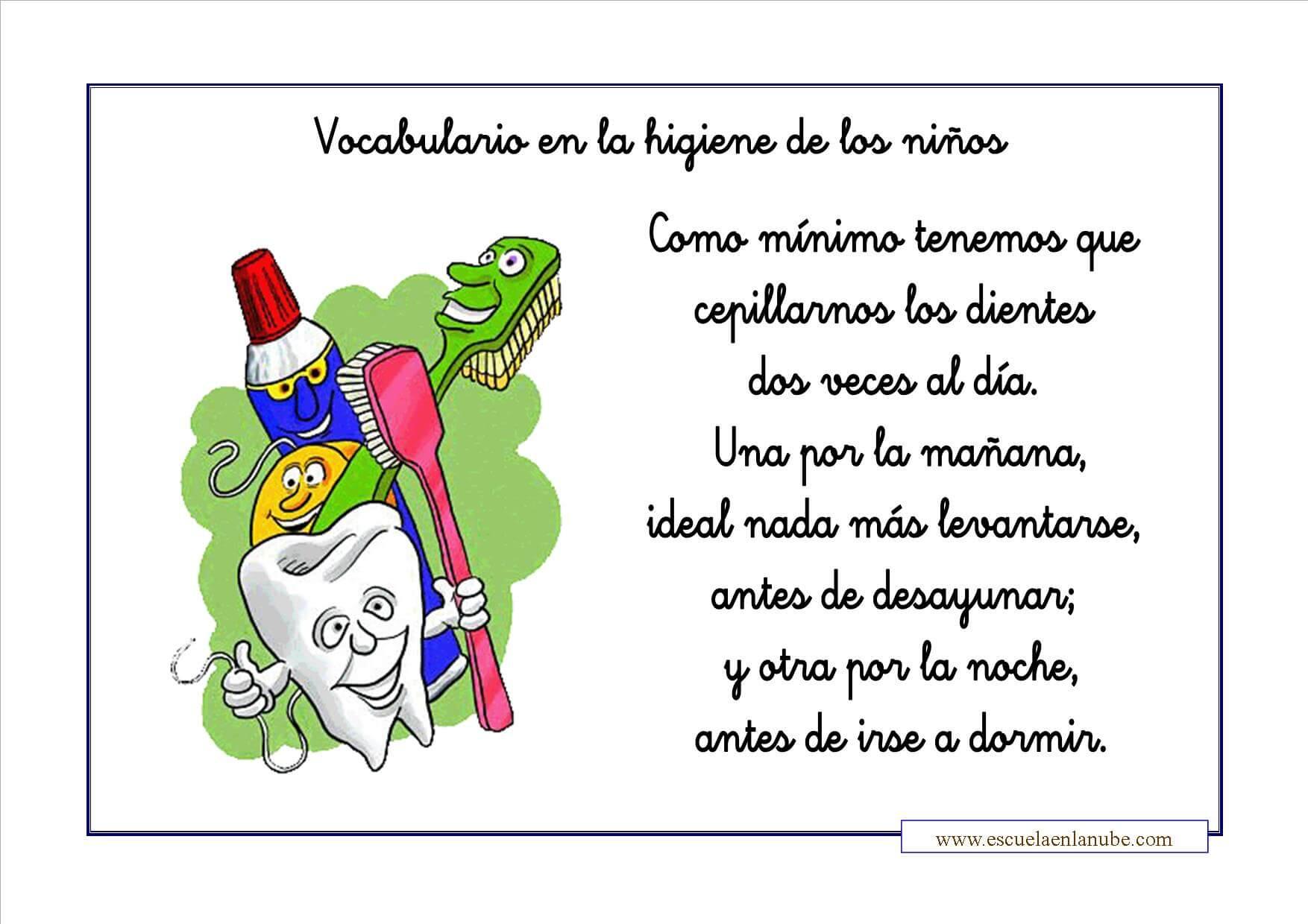 Higiene Infantil Fichas Para Aprender Y Colorear