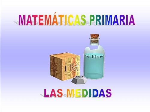Las medidas matemáticas primaria