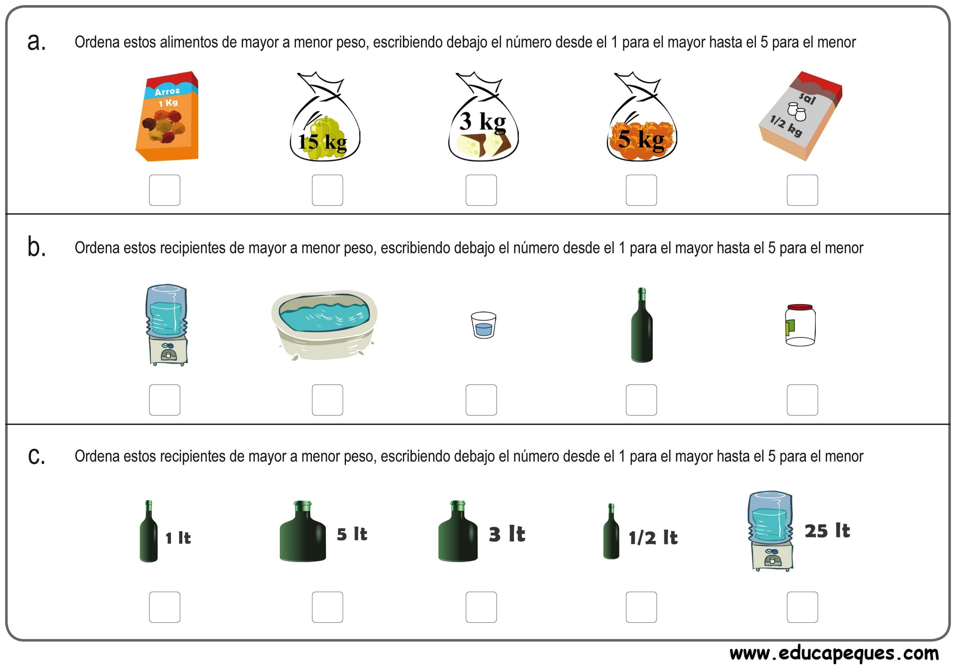matemáticas medidas 5