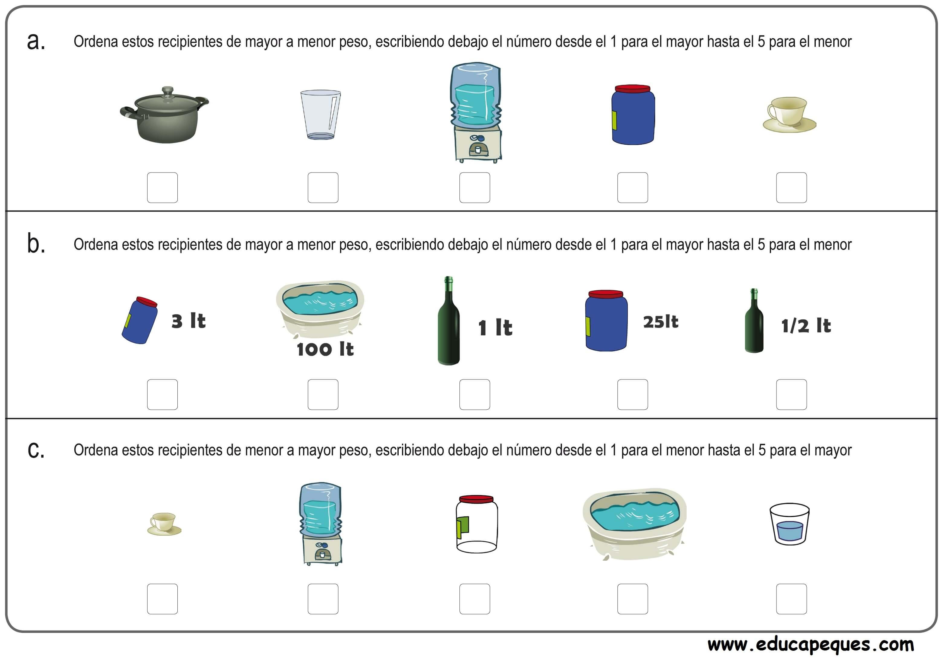matemáticas medidas 6