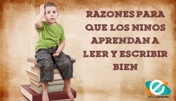 Importancia de que los niños aprendan a leer y escribir bien