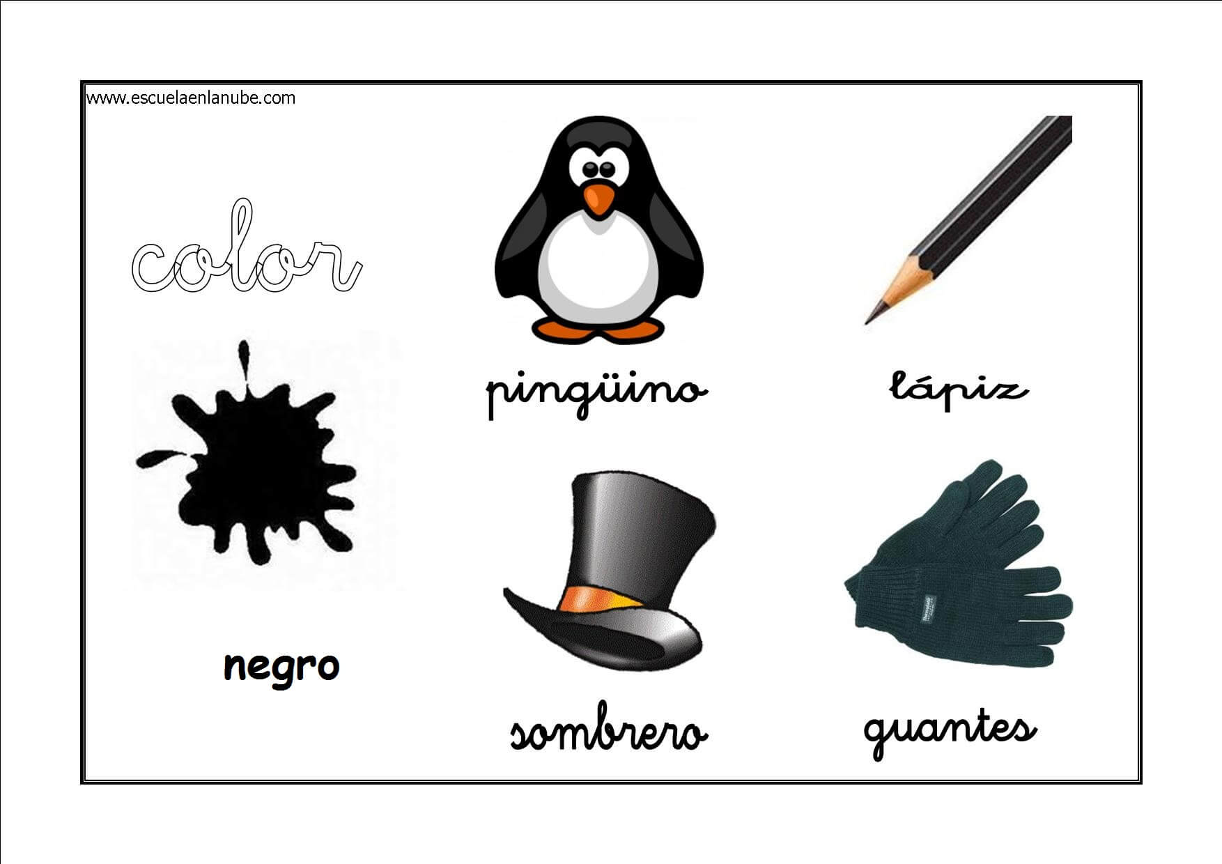 los colores fichas para aprender y repasar