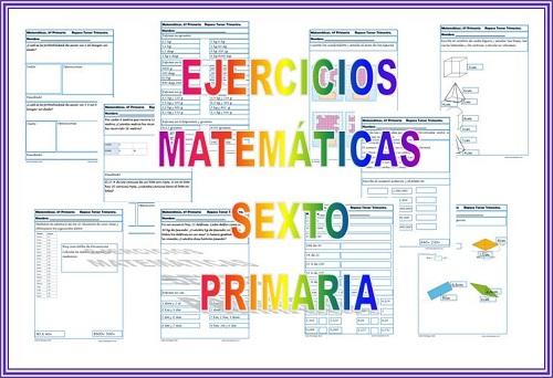 Fichas de ejercicios de Matemáticas para Sexto de Primaria
