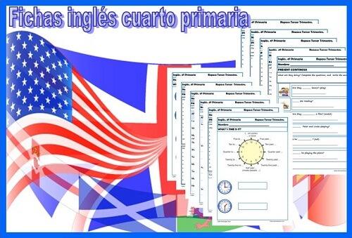 fichas inglés cuarto primaria