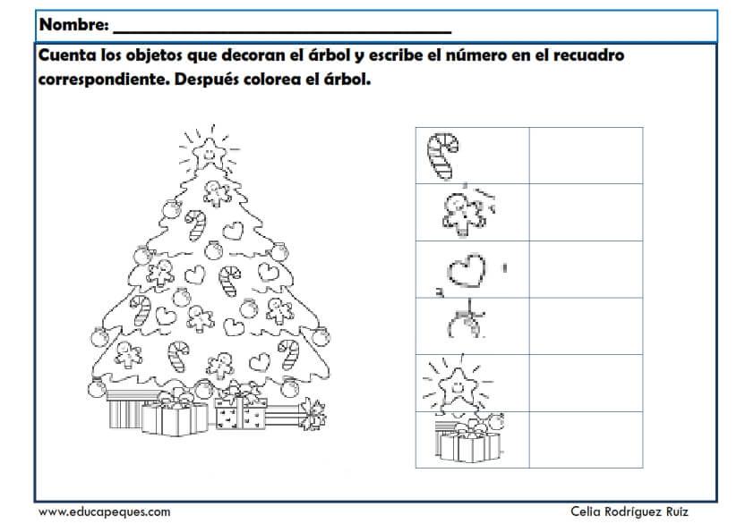 Fichas infantil navidad. Fichas para aprender y divertirse