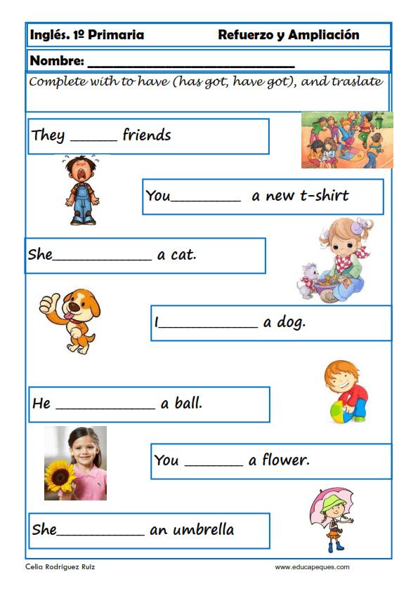 Aprende Y Repasa Inglés Primaria Niños 6 7 Años