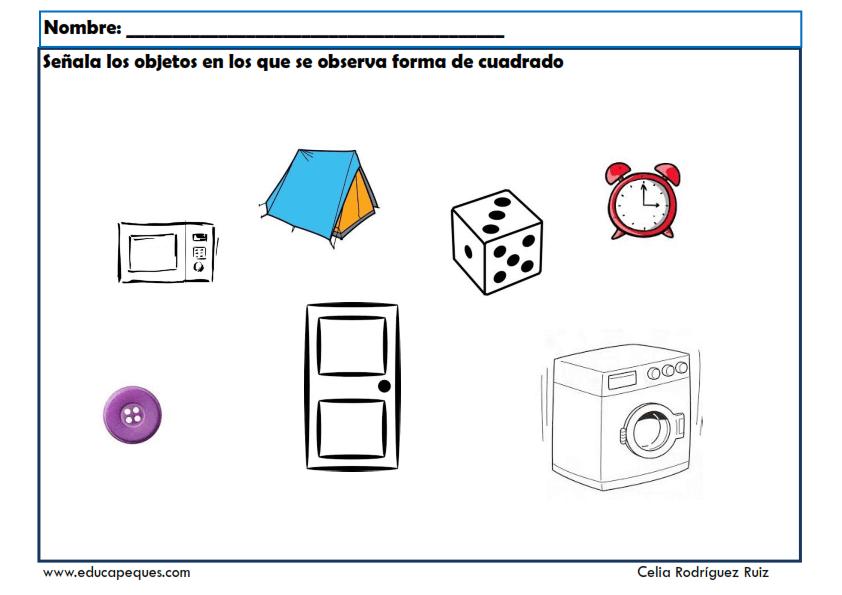 Fichas Infantil Con Formas Geométricas Para Imprimir