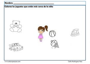 Conceptos Espaciales Y Temporales Fichas Para Infantil Y
