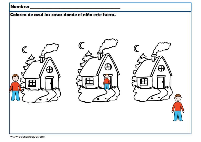 Fichas infantil para trabajar conceptos b sicos for Nociones basicas de oficina concepto
