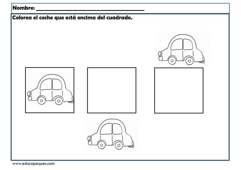 Fichas infantil para trabajar conceptos b sicos for Interior y exterior en ingles