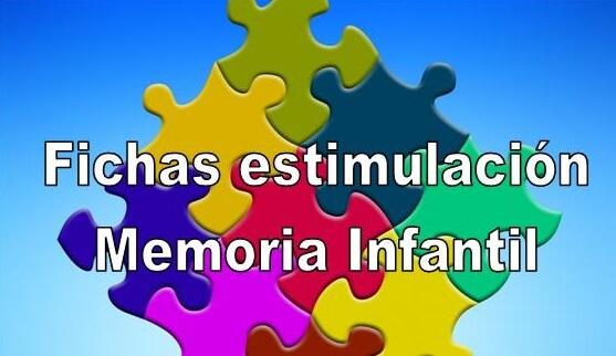 Fichas estimulación memoria infantil