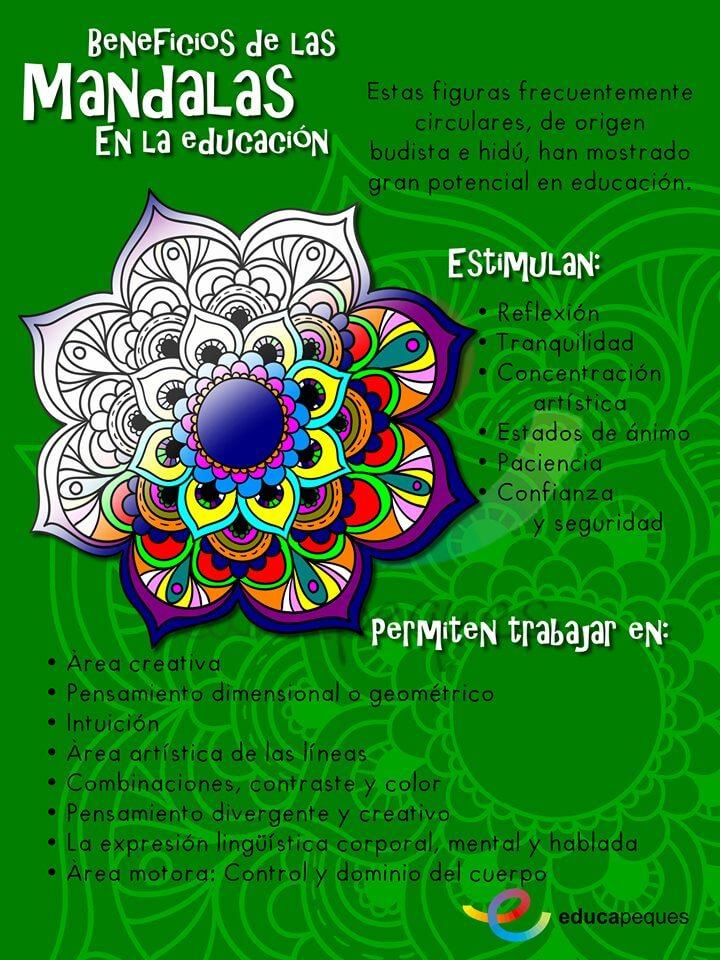 Mandalas para pintar: Beneficios de las mandalas en los niños