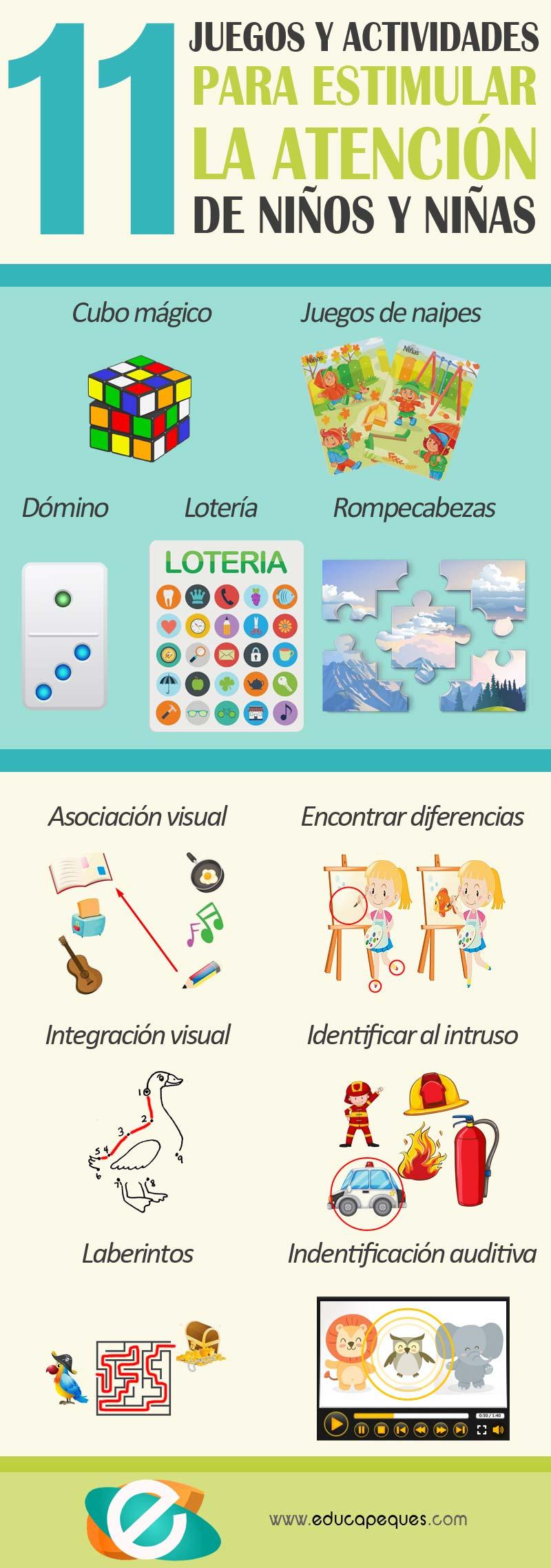 11 Juegos Y Actividades Para Estimular La Atencion Educapeques