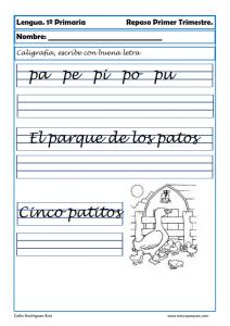 Ejercicios de caligrafa para nios  Cmo mejorar la letra