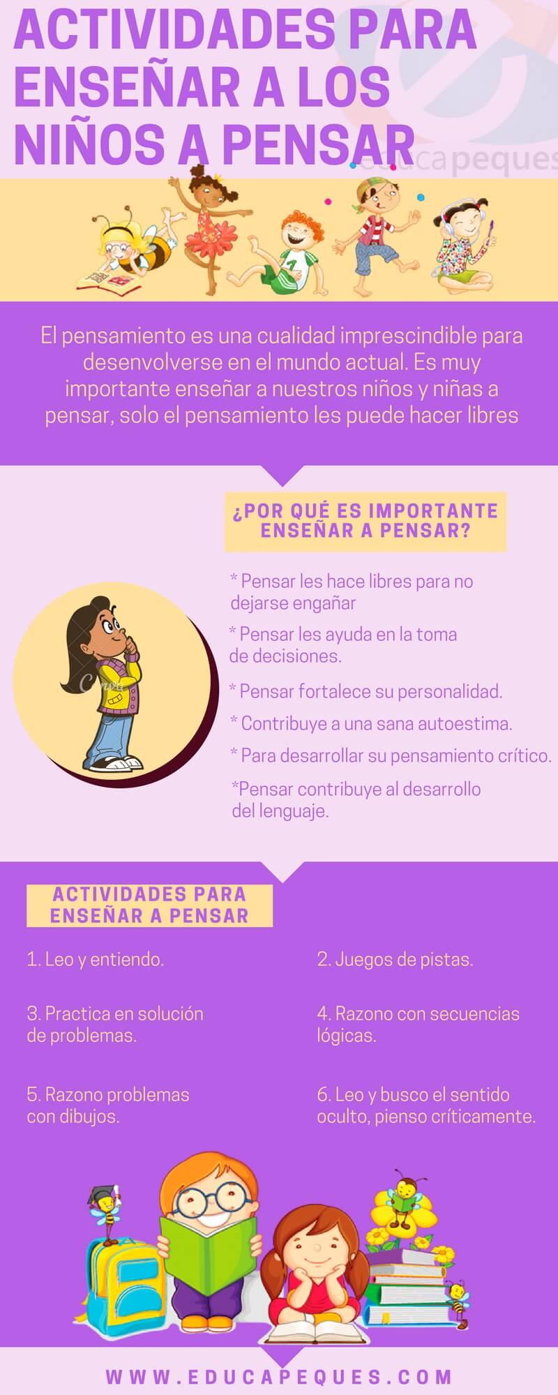 6 Actividades imprescindibles para enseñar a pensar a los niños