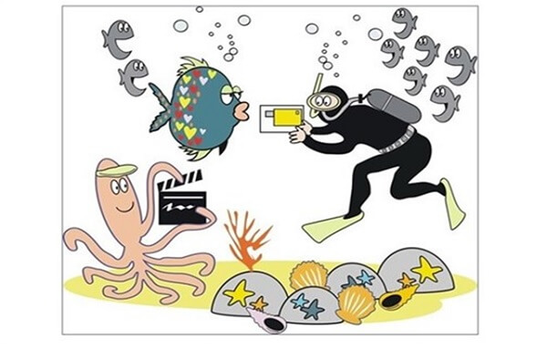 Cuento infantil: La biblioteca submarina