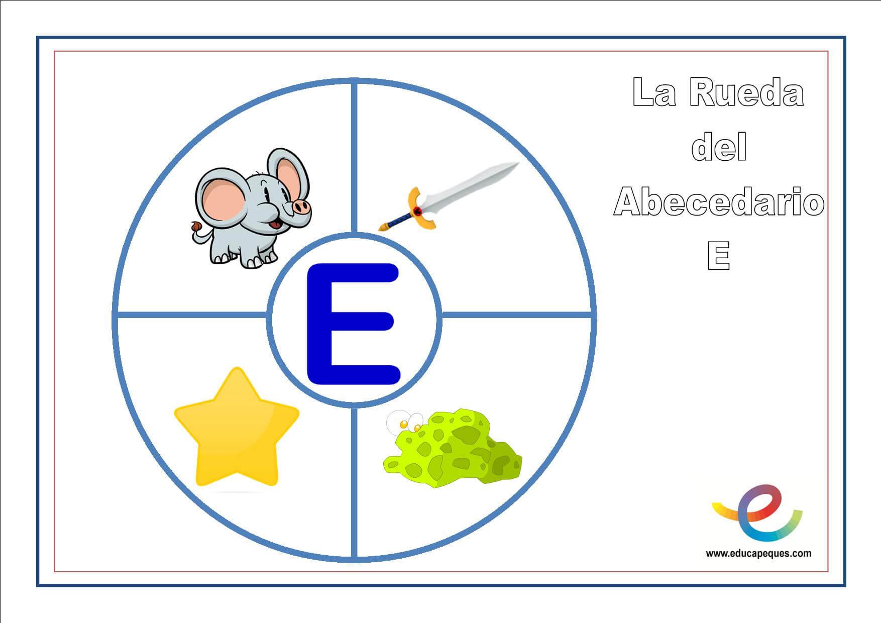 la rueda del vocabulario E