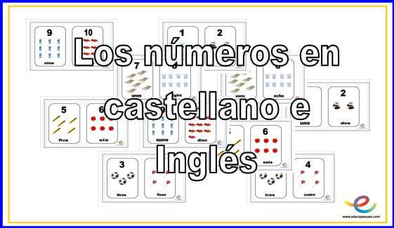 Los números en castellano en inglés
