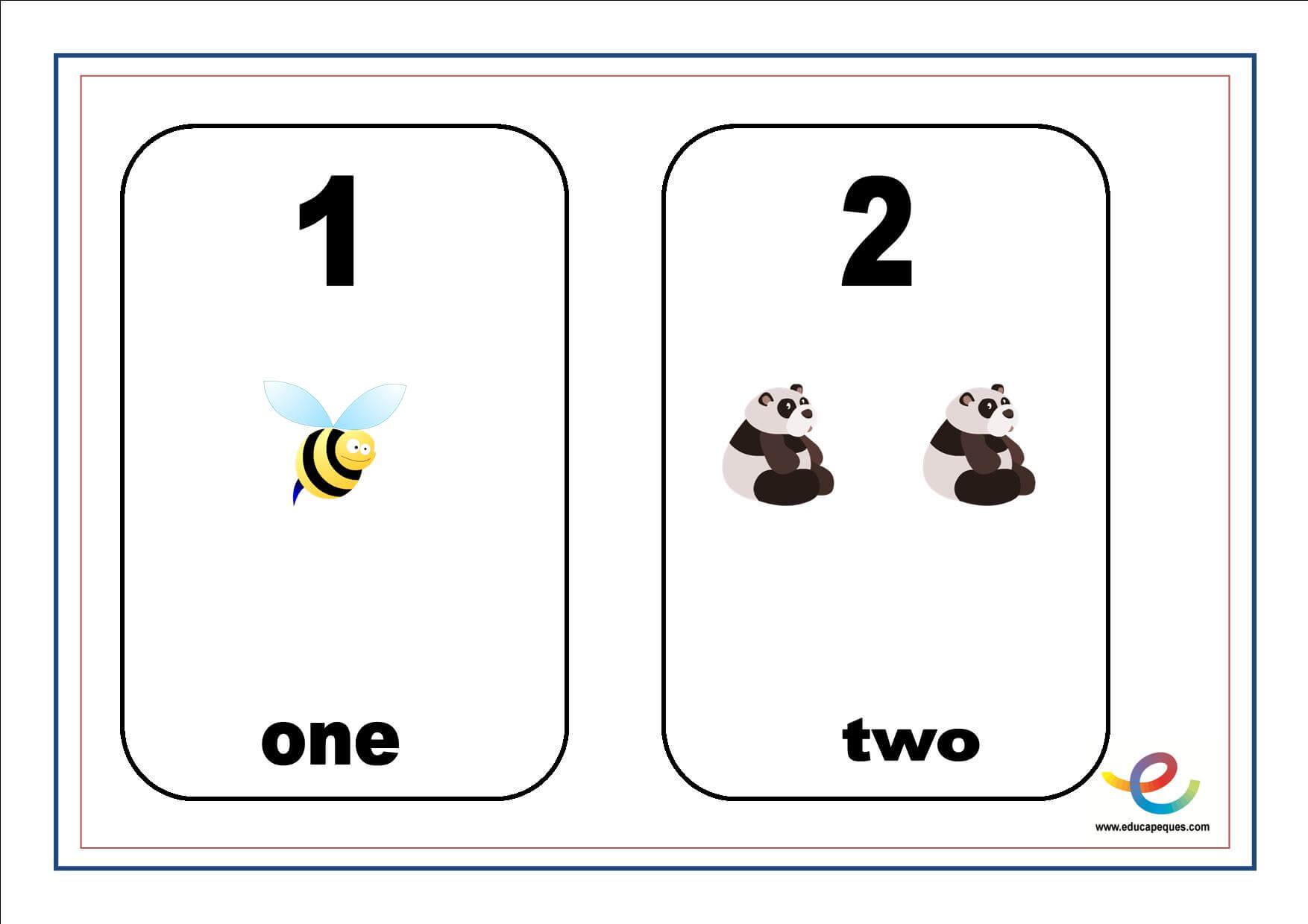 Números en inglés y castellano