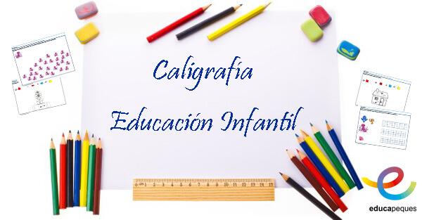 caligrafía educación infantil