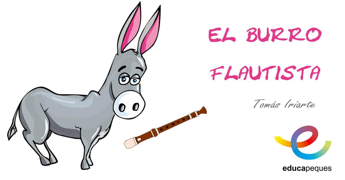 el burro flautista, fabulas para niños, fabulas infantiles