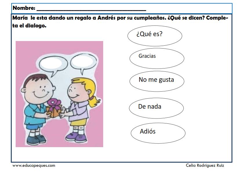 Fichas para trabajar las competencias sociales en niños y niñas
