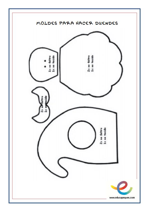 Fichas- Manualidades y fichas de trabajos e ideas para trabajar con Hadas y Duendes_009