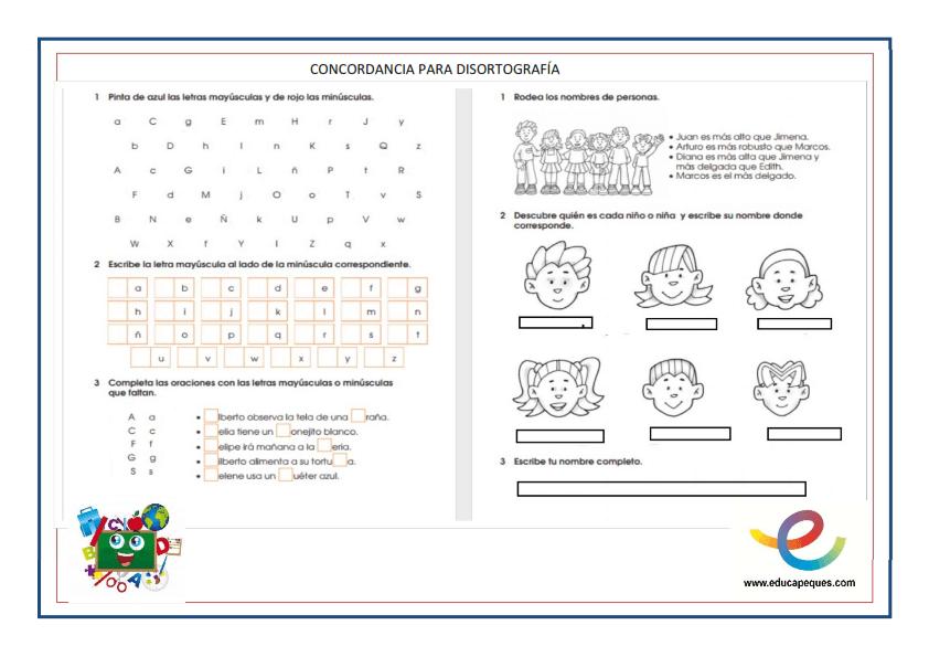 Disortografía, dislexia, disgrafía, problemas del lenguaje, lenguaje, trastornos del lenguaje