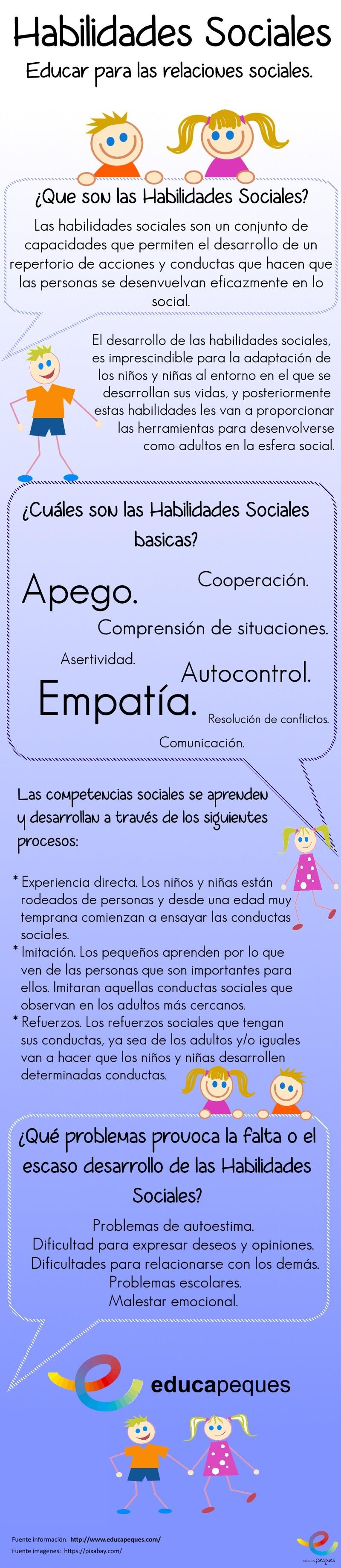 Las habilidades sociales en los niños y sus competencias sociales