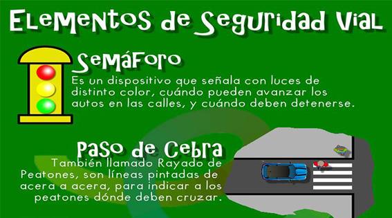 Infografía Elementos De Seguridad Vial