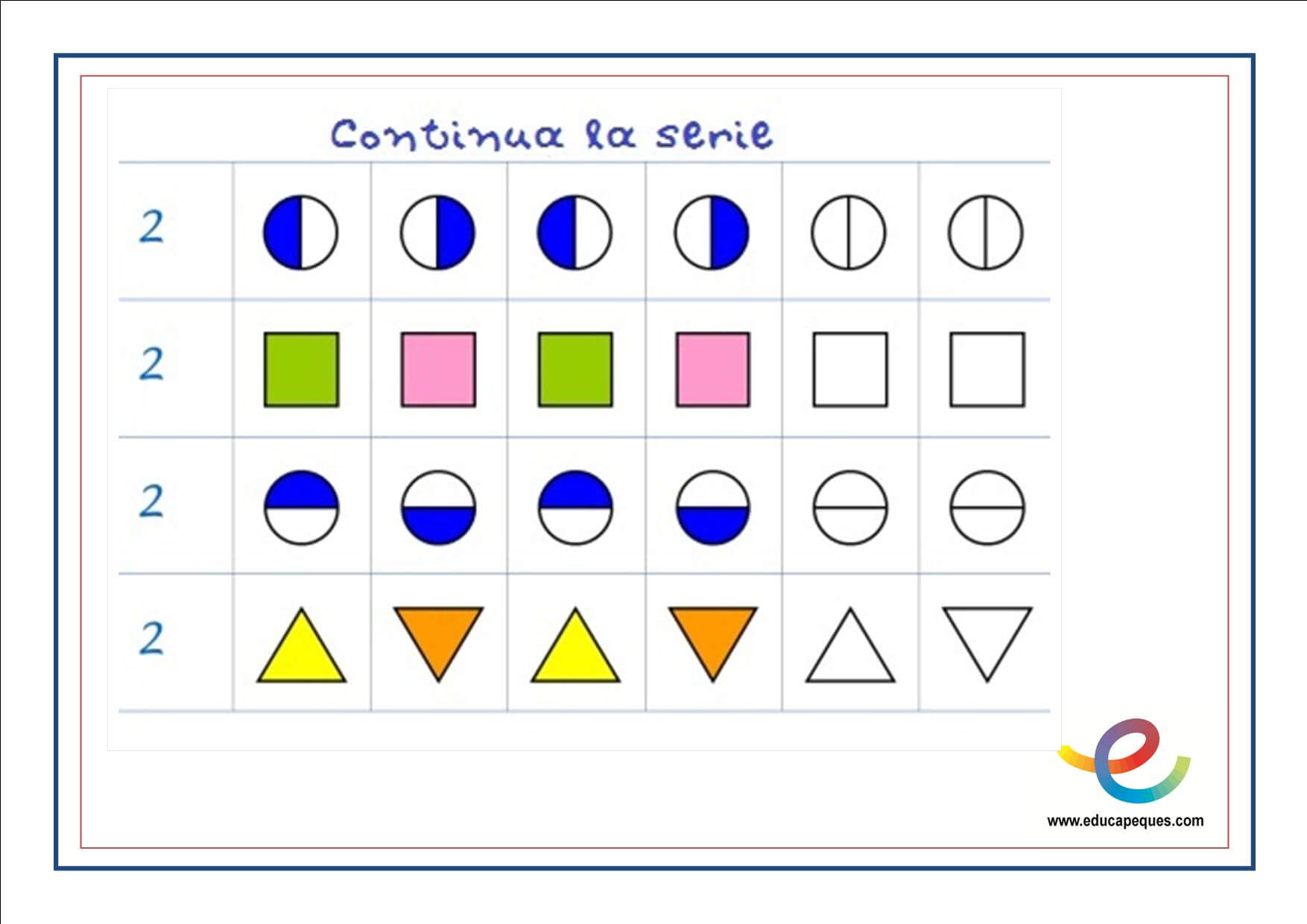 Ficha razonamiento abstracto matematico