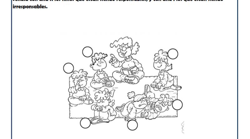 Fichas infantil: Niños responsables