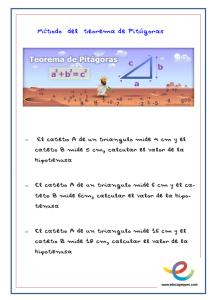 ejemplos teorema de pitagoras