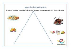 piramide de los alimentos para ninos infantil