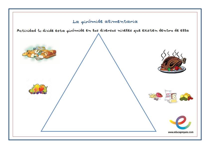 Sobre infantil alimentos para fichas los
